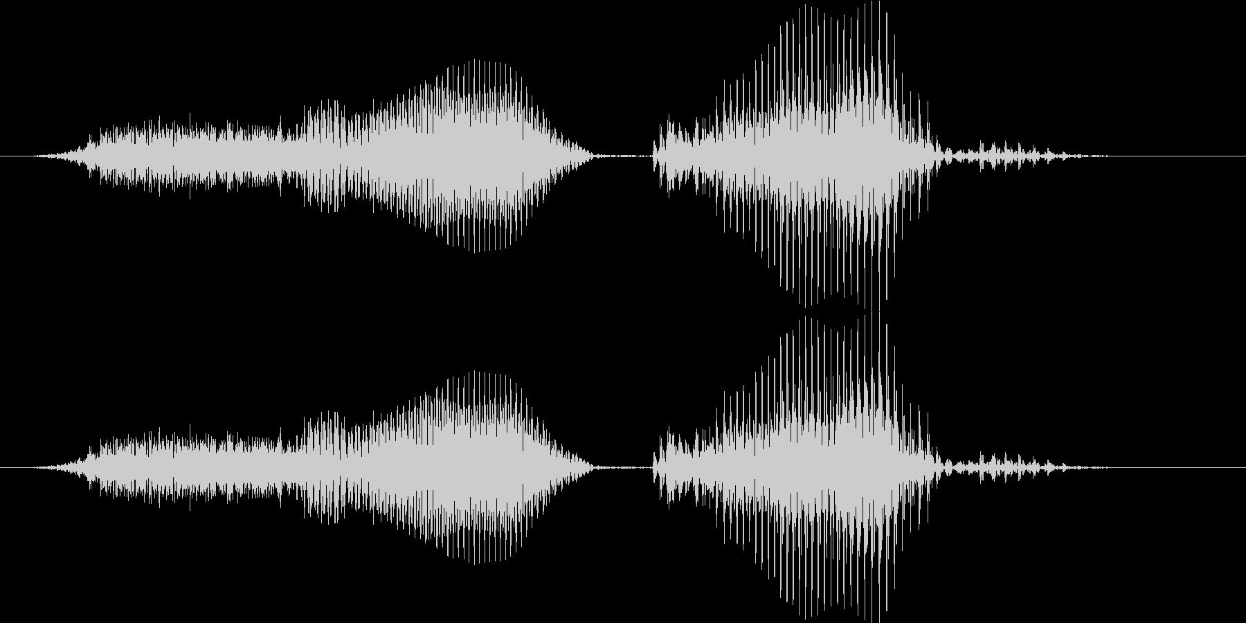 スリーカード - ポーカーの役(普通の未再生の波形