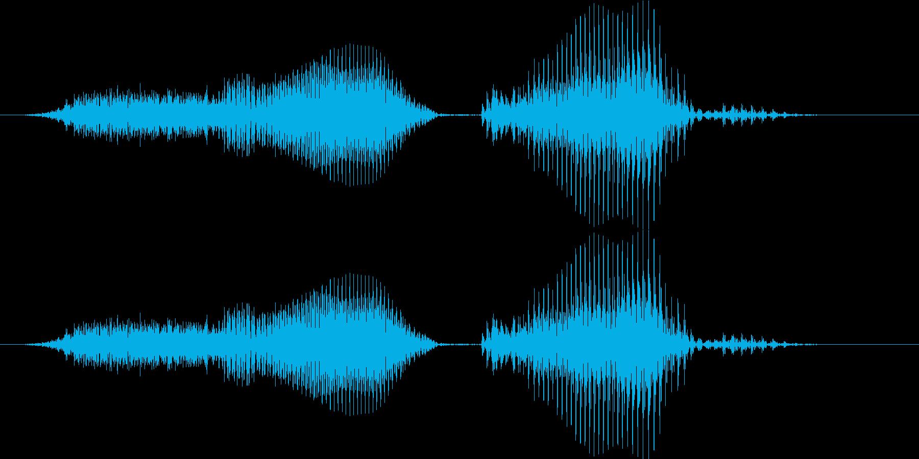 スリーカード - ポーカーの役(普通の再生済みの波形