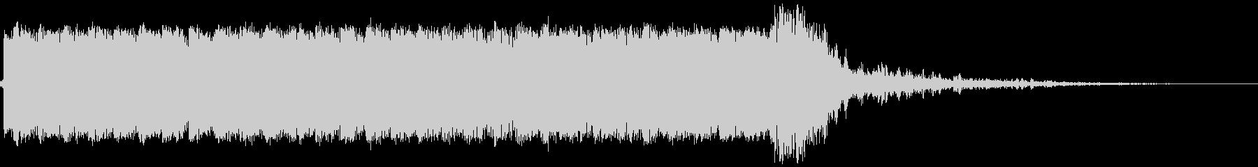 マシンガン(跳弾音なし)の未再生の波形
