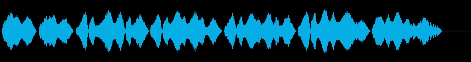 テルミン四重録音きよしこのよるBPM65の再生済みの波形