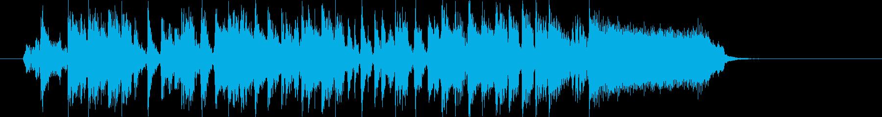 明るく楽しげなシンセサウンド短めの再生済みの波形