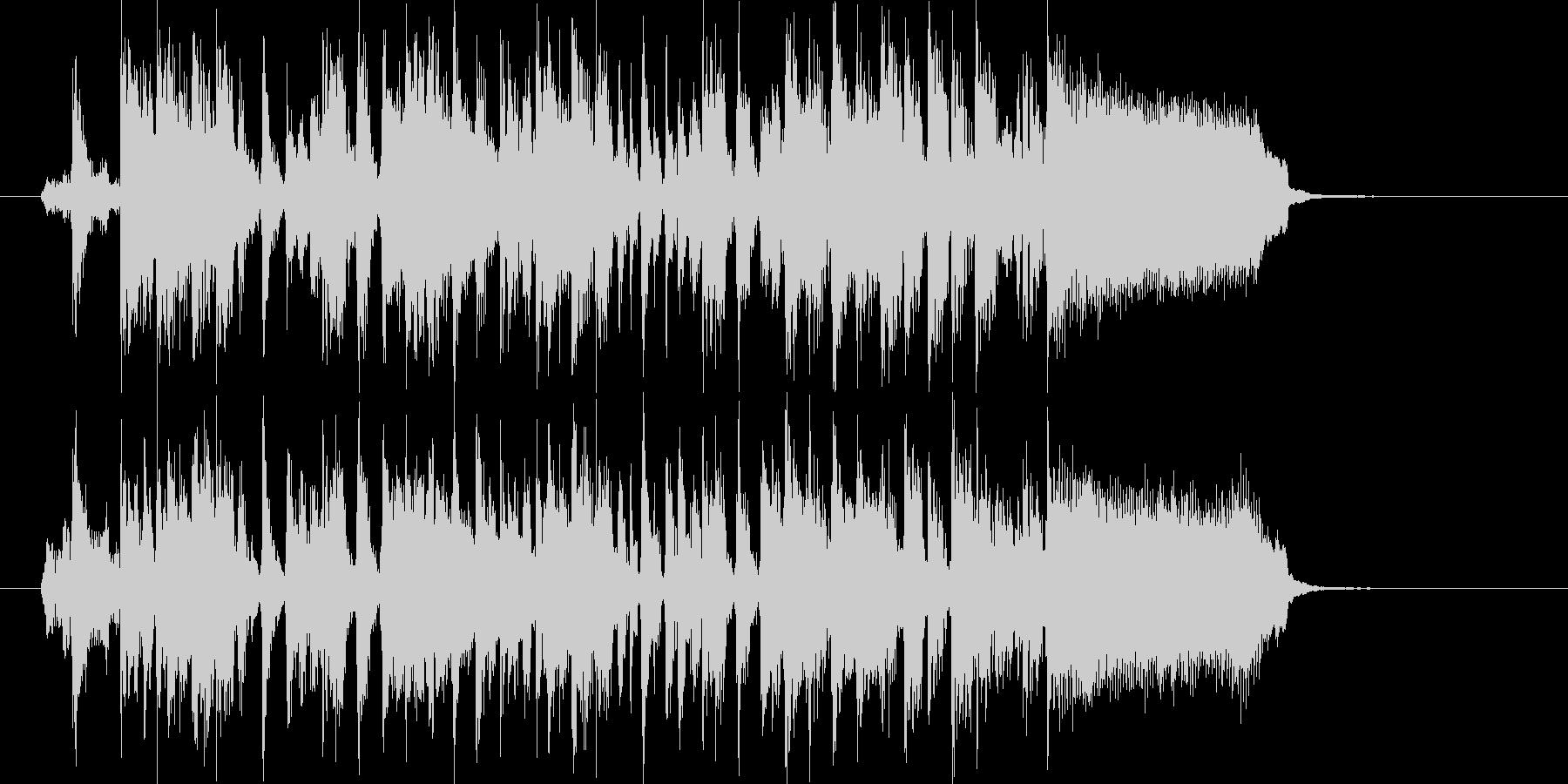 明るく楽しげなシンセサウンド短めの未再生の波形