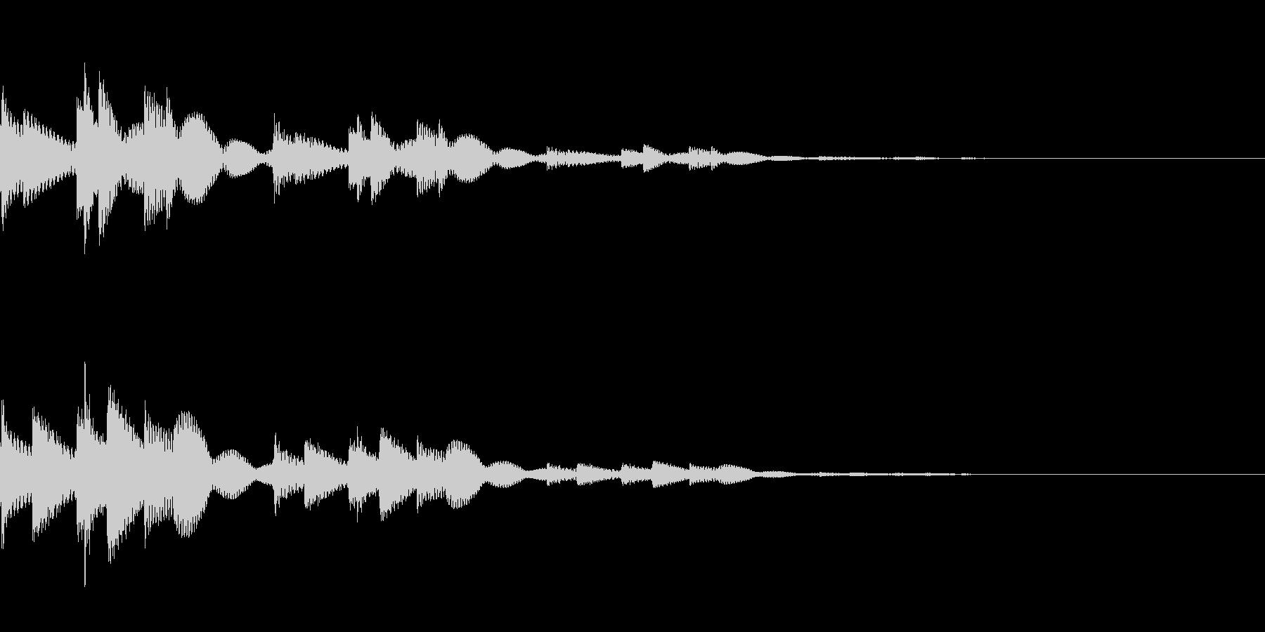 キランという音です。決定、回復、タッチ音の未再生の波形