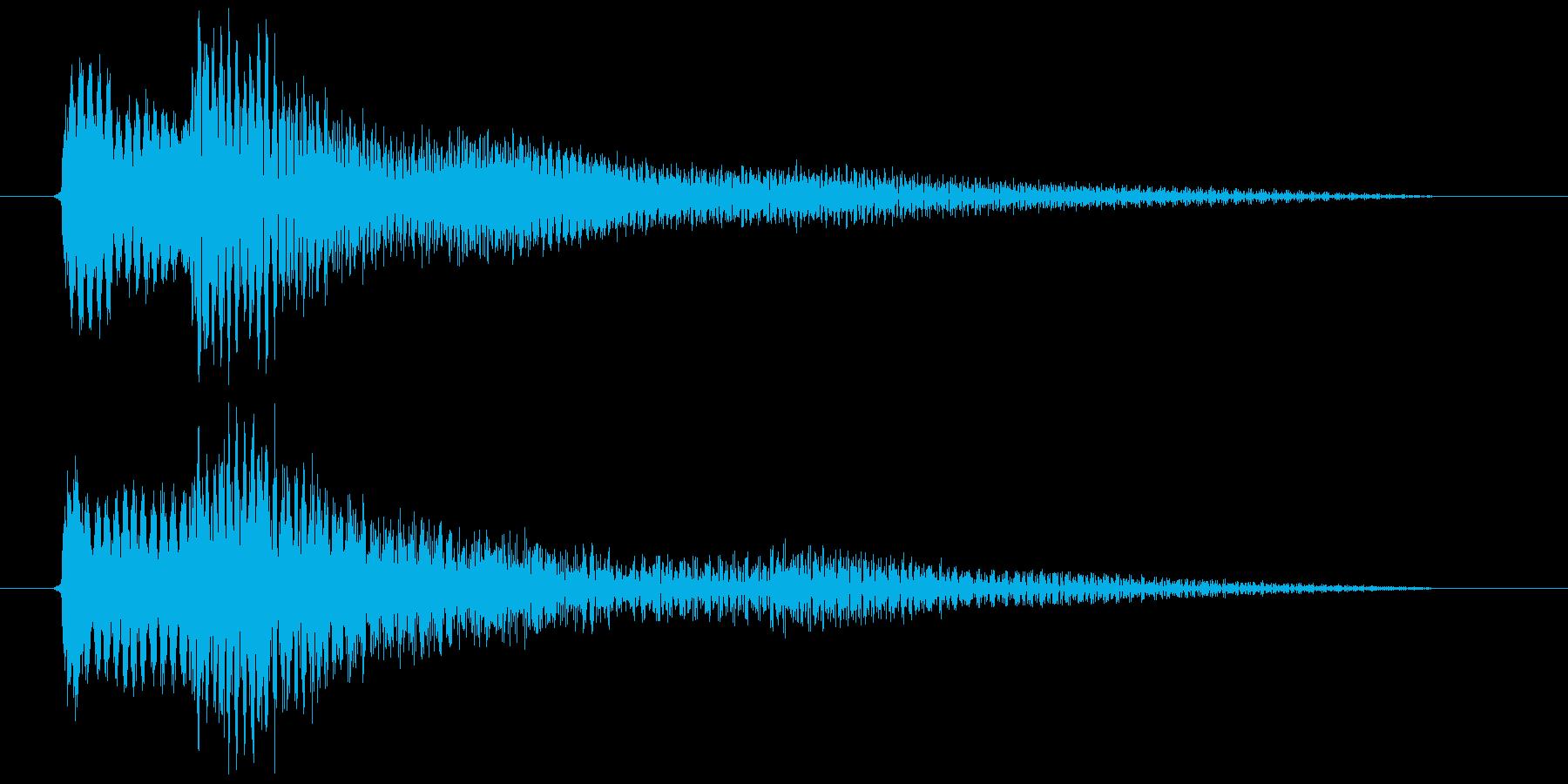 ちょっとしたエラー音・ダイアログ表示の音の再生済みの波形