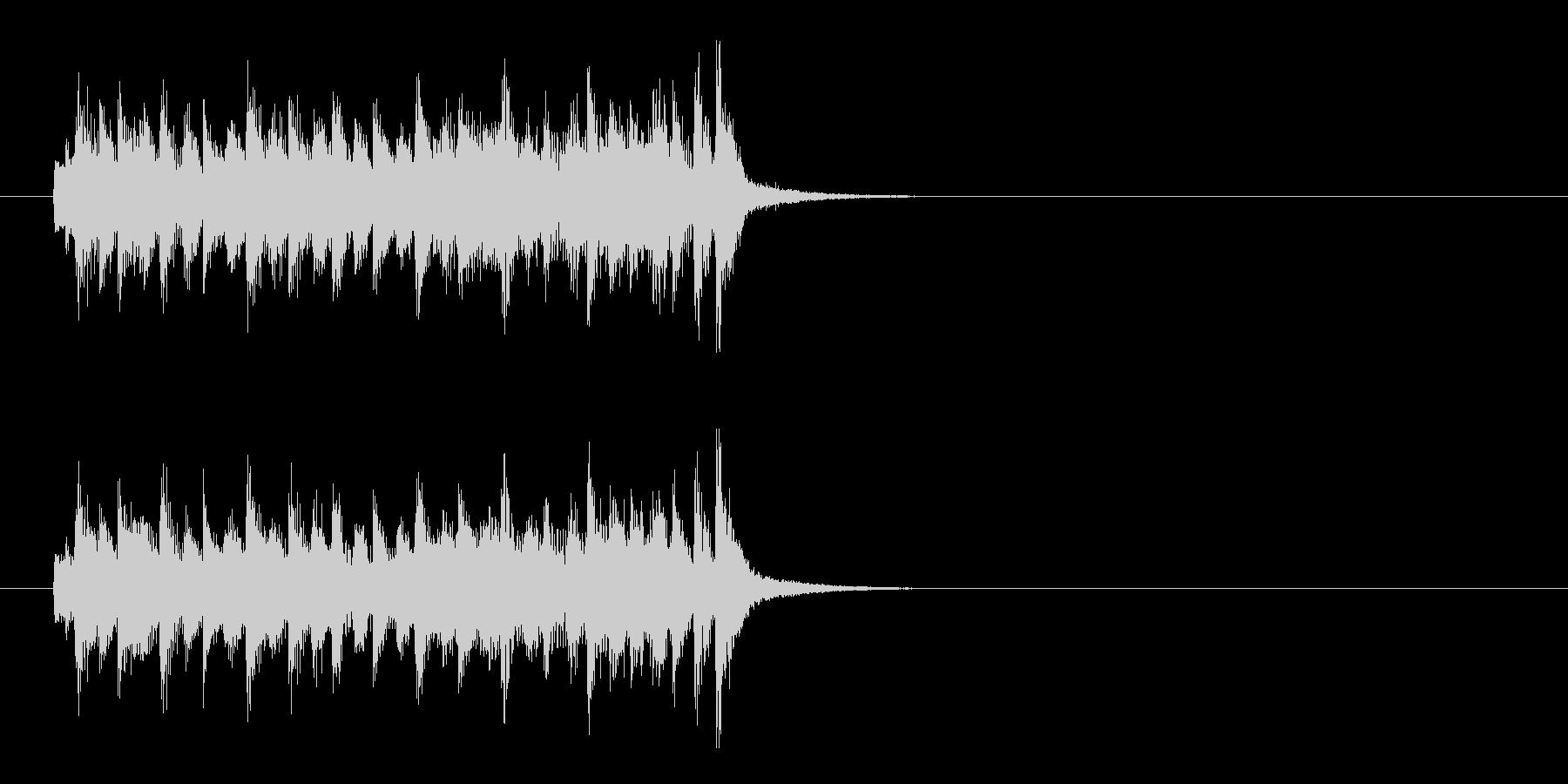 ジングル(コメディ風)の未再生の波形
