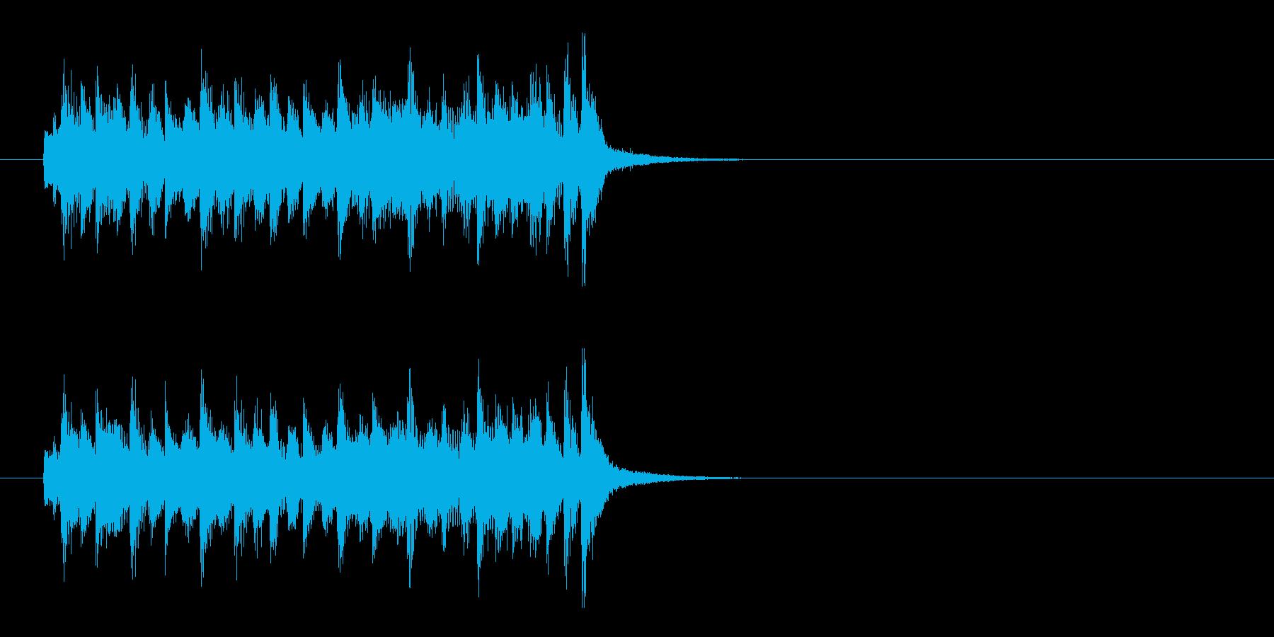 ジングル(コメディ風)の再生済みの波形