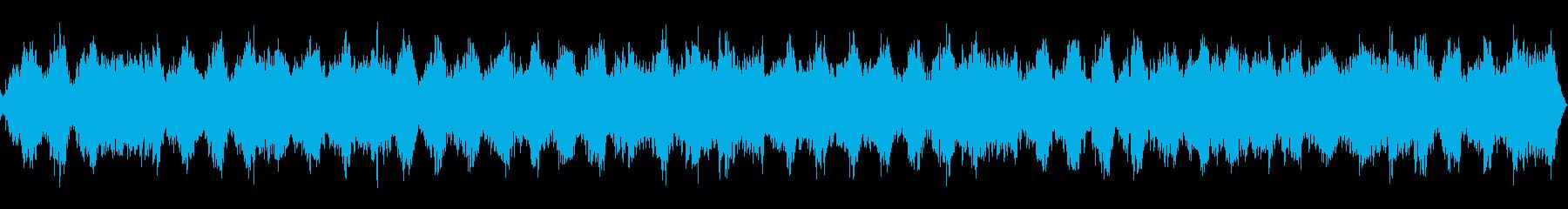 自然音をバックに流したヨガや瞑想用BGMの再生済みの波形