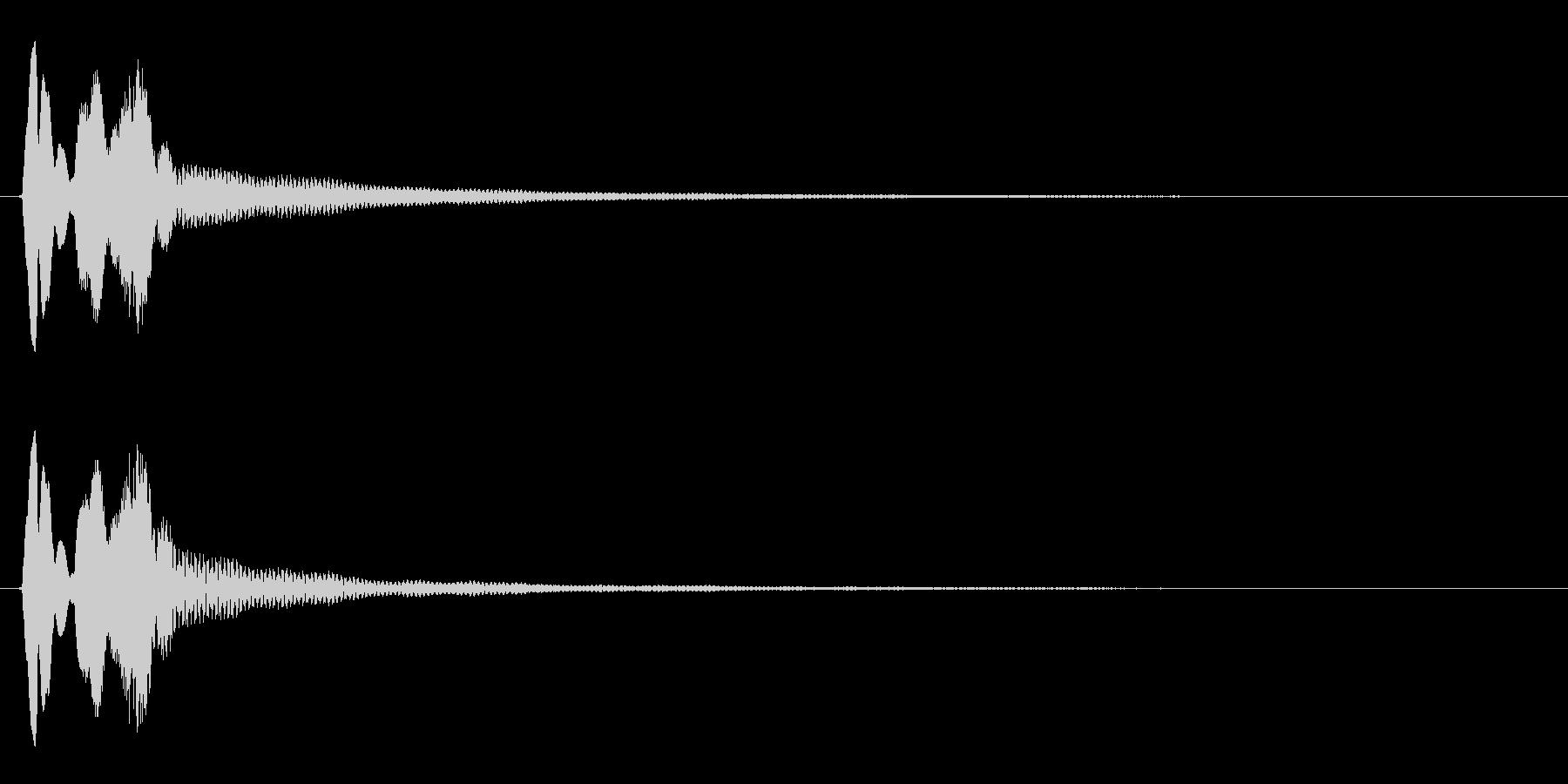 タララン↓(かわす、ミス、受け流す)の未再生の波形