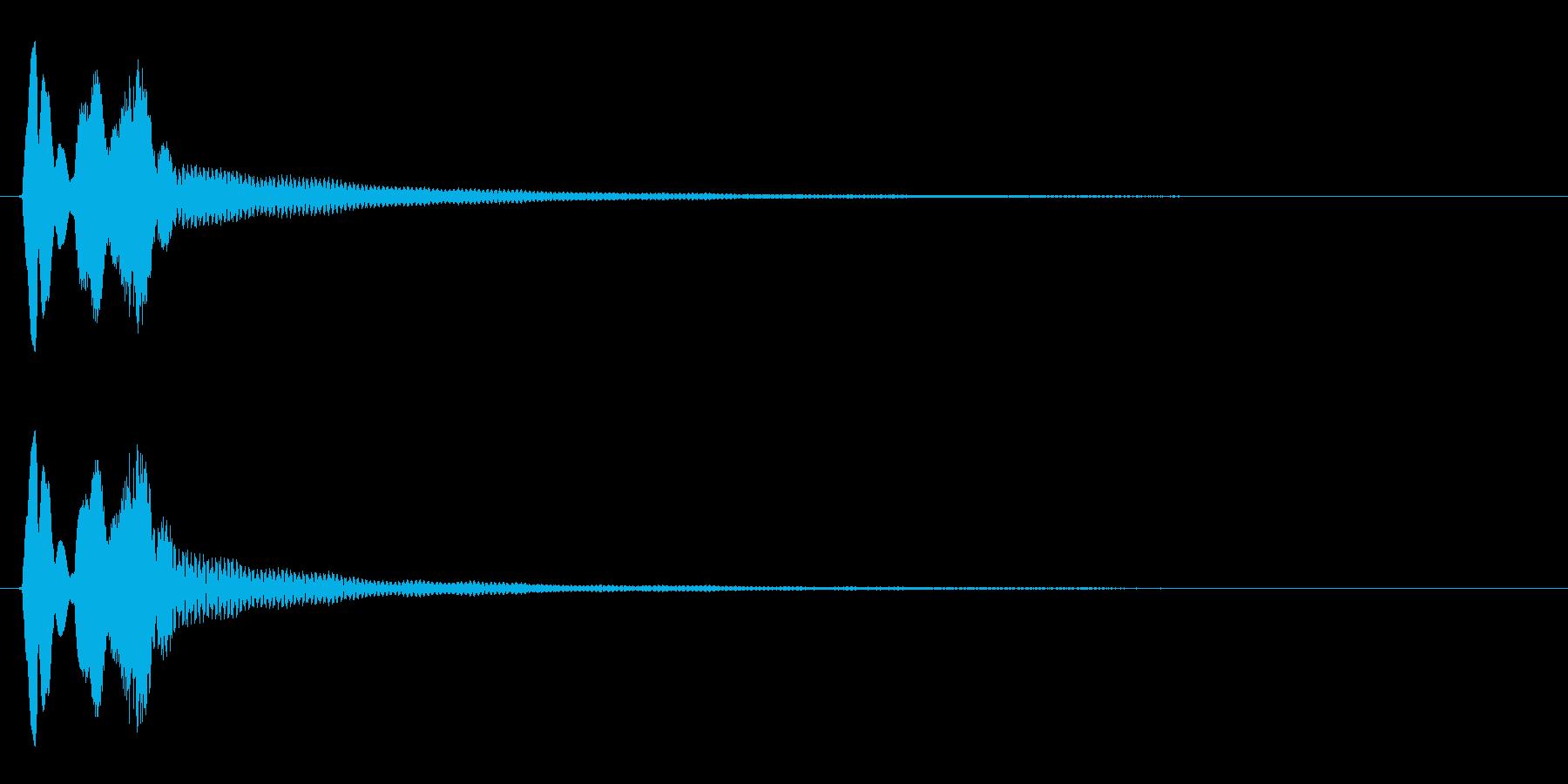 タララン↓(かわす、ミス、受け流す)の再生済みの波形