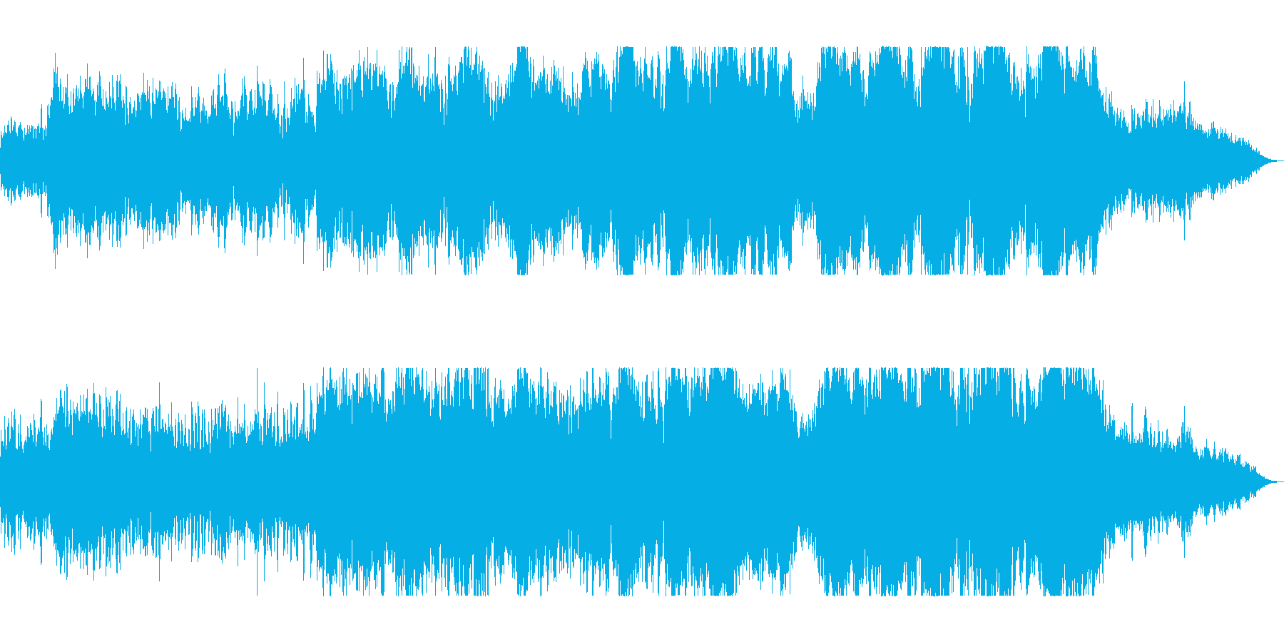 勢いと華やかな管弦楽器シンセサウンドの再生済みの波形