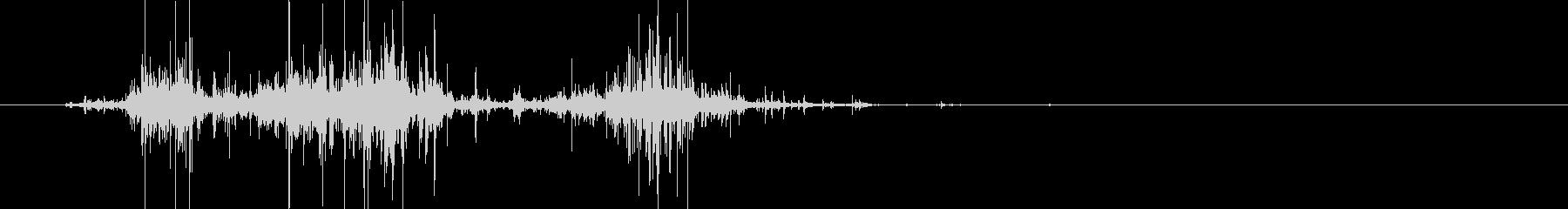 ビニール音の未再生の波形