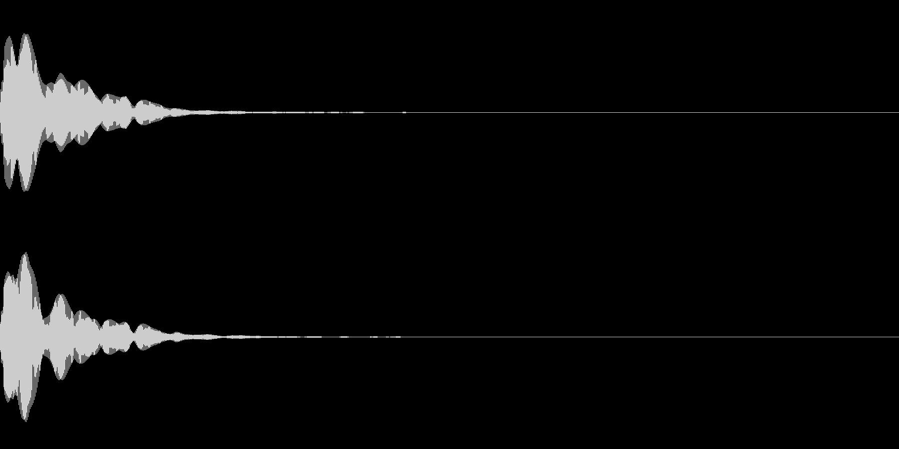 ふわん(柔らかい決定音)の未再生の波形