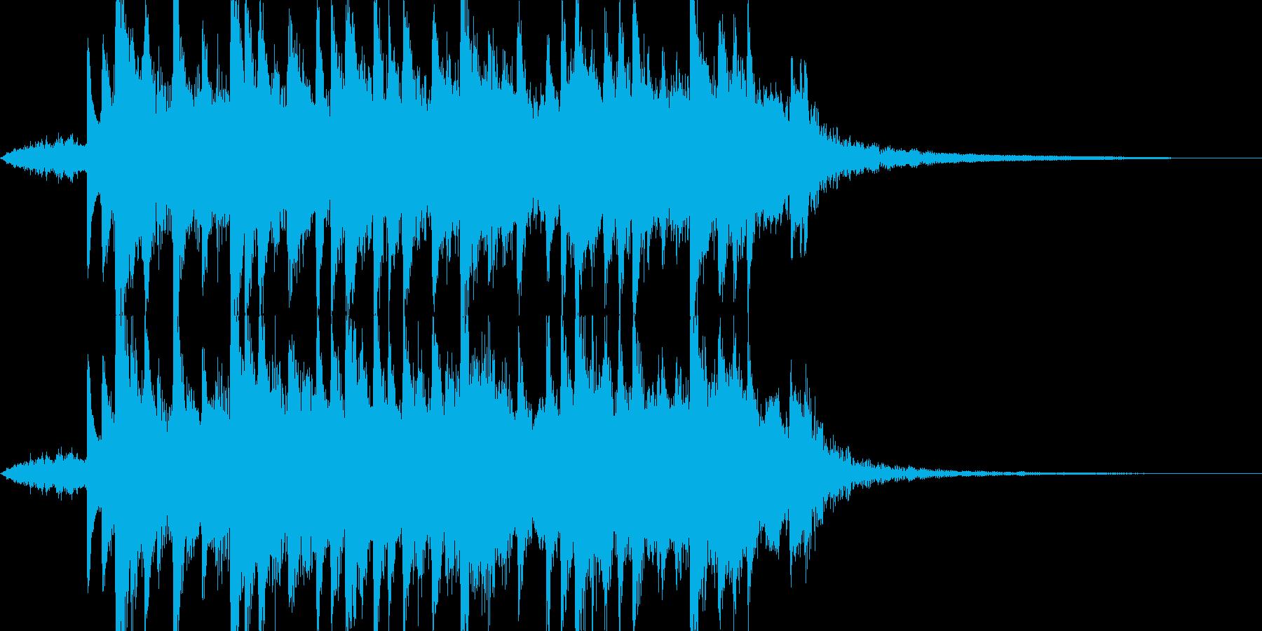 太鼓、琴、弦の和風ジングルの再生済みの波形
