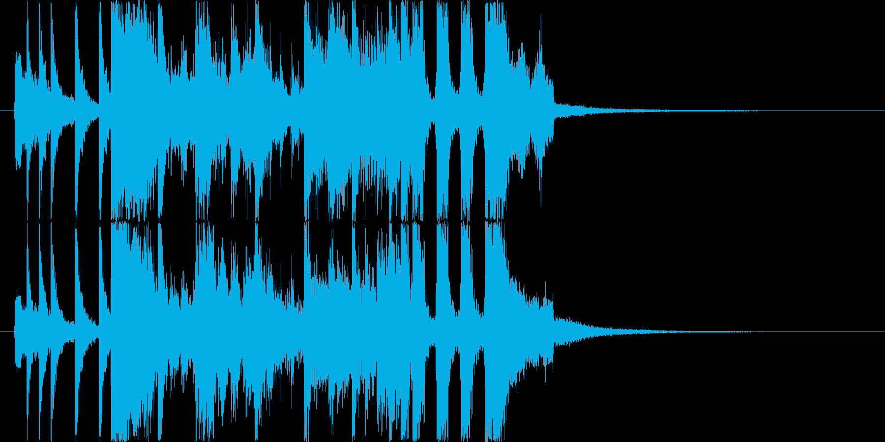 ファンキーな管楽器ジングルの再生済みの波形