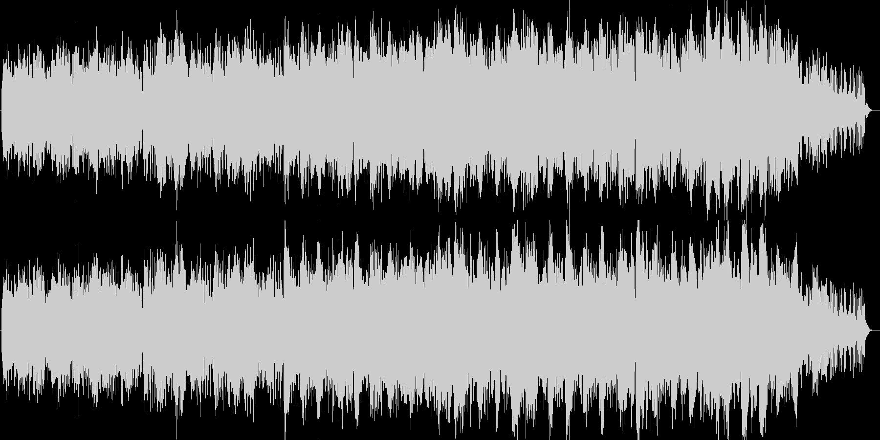 宇宙的なシンセサイザー系サウンドの未再生の波形