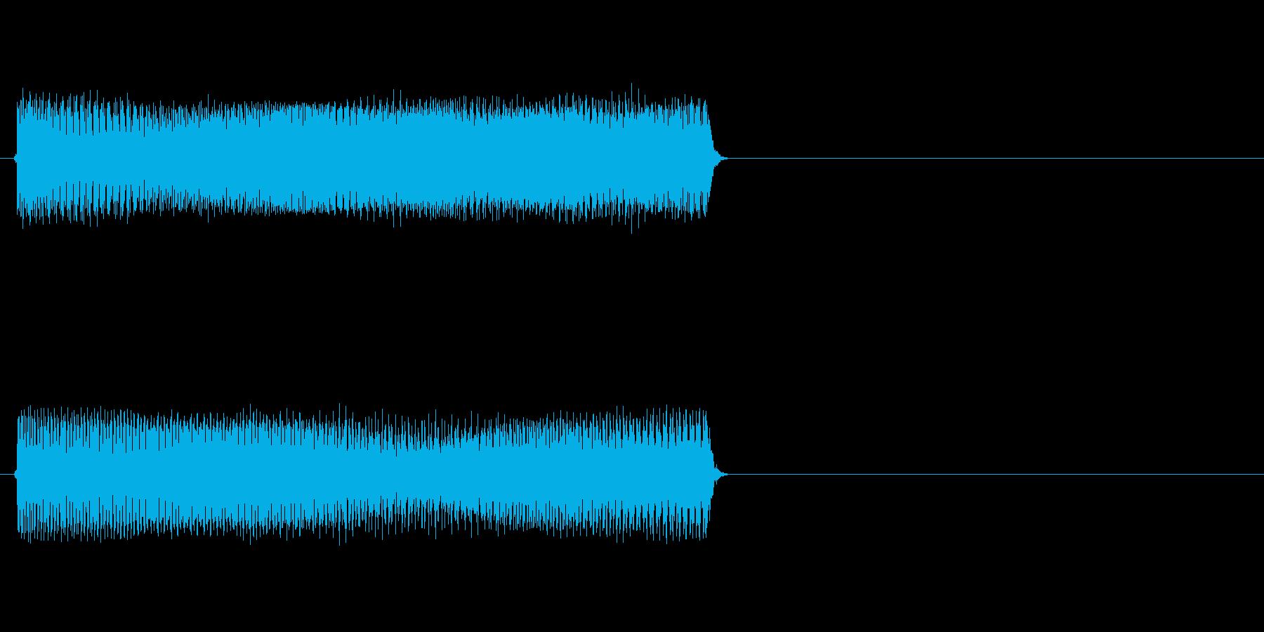 【ブー/ビー】というブザー音や不正解音の再生済みの波形