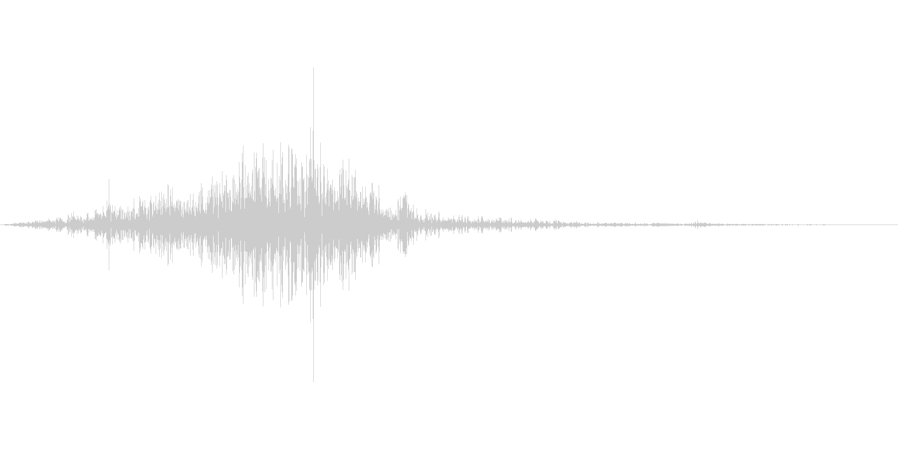 シュッ(ティッシュを箱から取る音)の未再生の波形