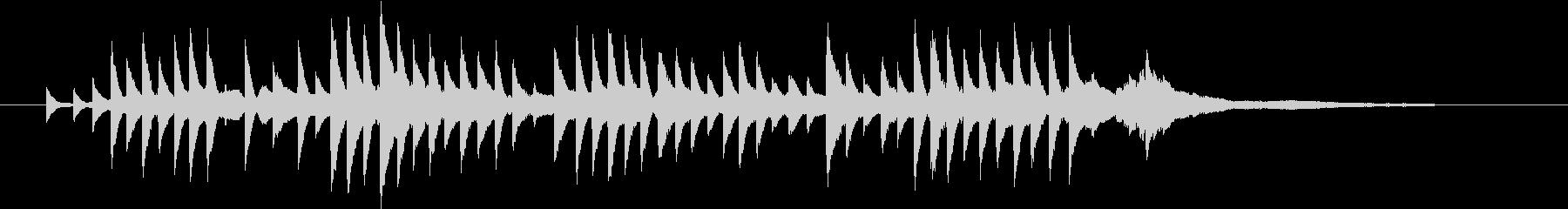 「やさしい雨のBGM」の未再生の波形