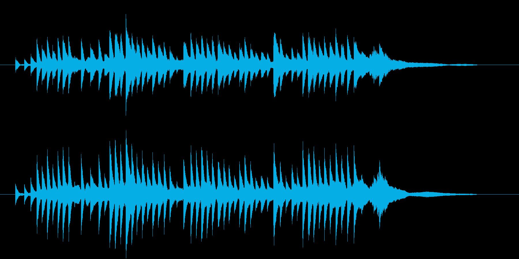 「やさしい雨のBGM」の再生済みの波形