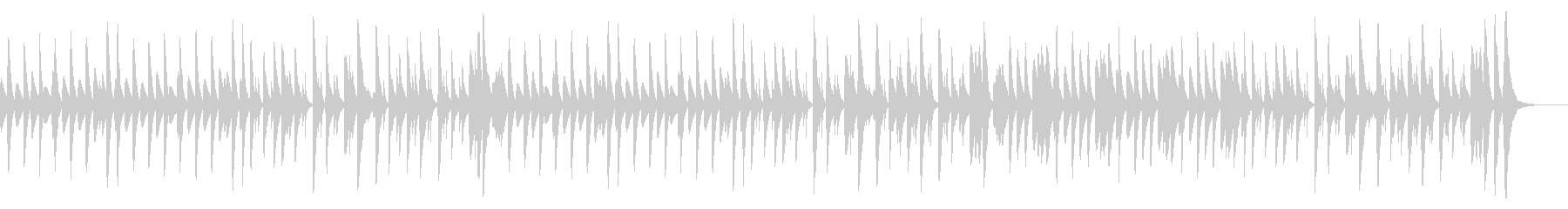 シンプルで軽快な明るいマリンバ曲の未再生の波形