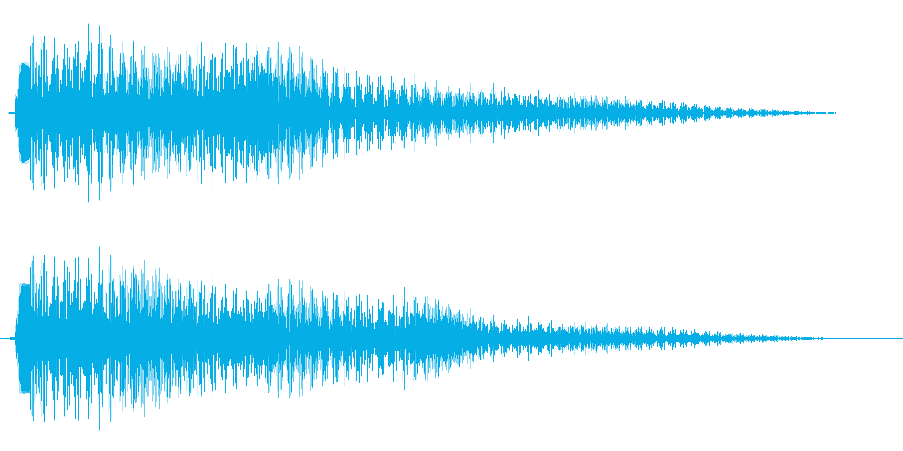 ピポーン(軽やかに響くお知らせ音)の再生済みの波形