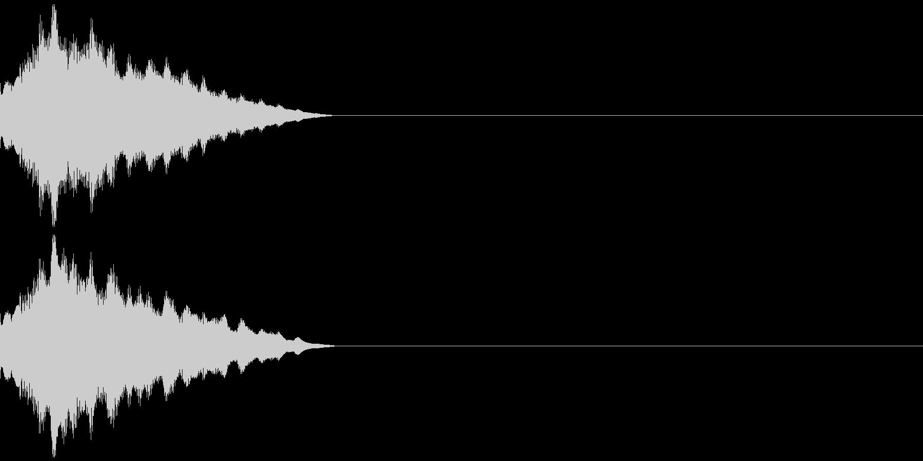 キラーン! 可愛い効果音の未再生の波形