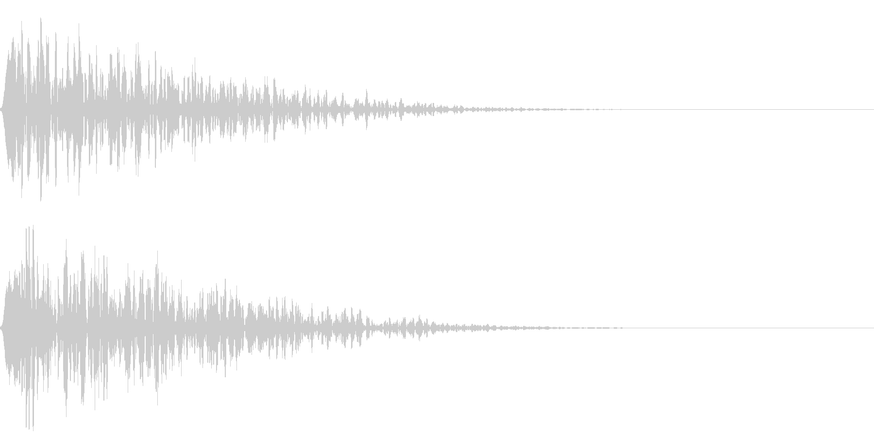 シネマチックな重低音インパクト4・ブーンの未再生の波形