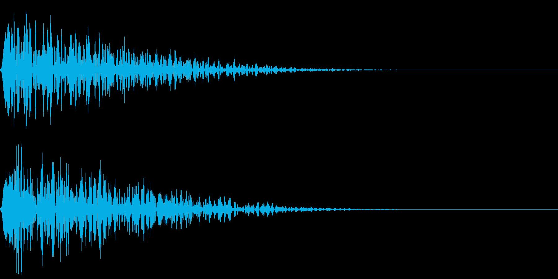 シネマチックな重低音インパクト4・ブーンの再生済みの波形