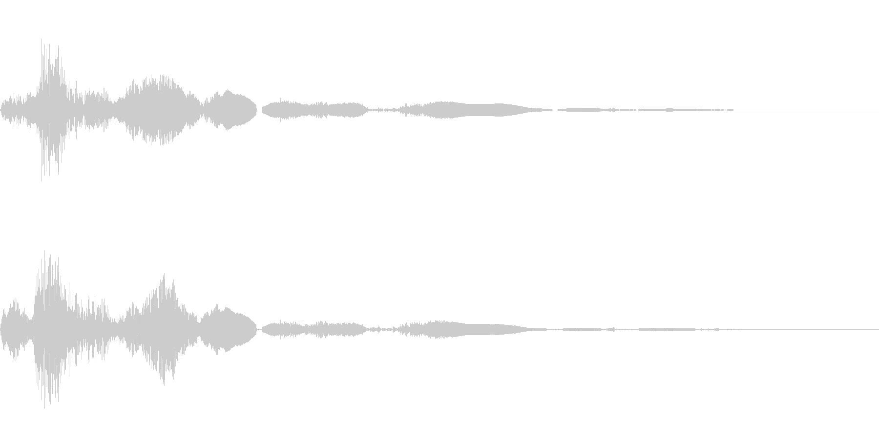 ドアノブをひねるの未再生の波形