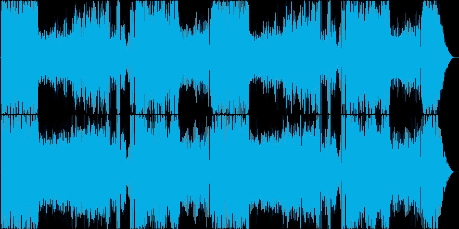 フルオーケストラのボス戦ループ曲の再生済みの波形