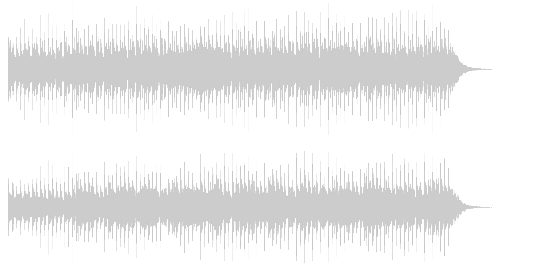 キラキラ出囃子の未再生の波形
