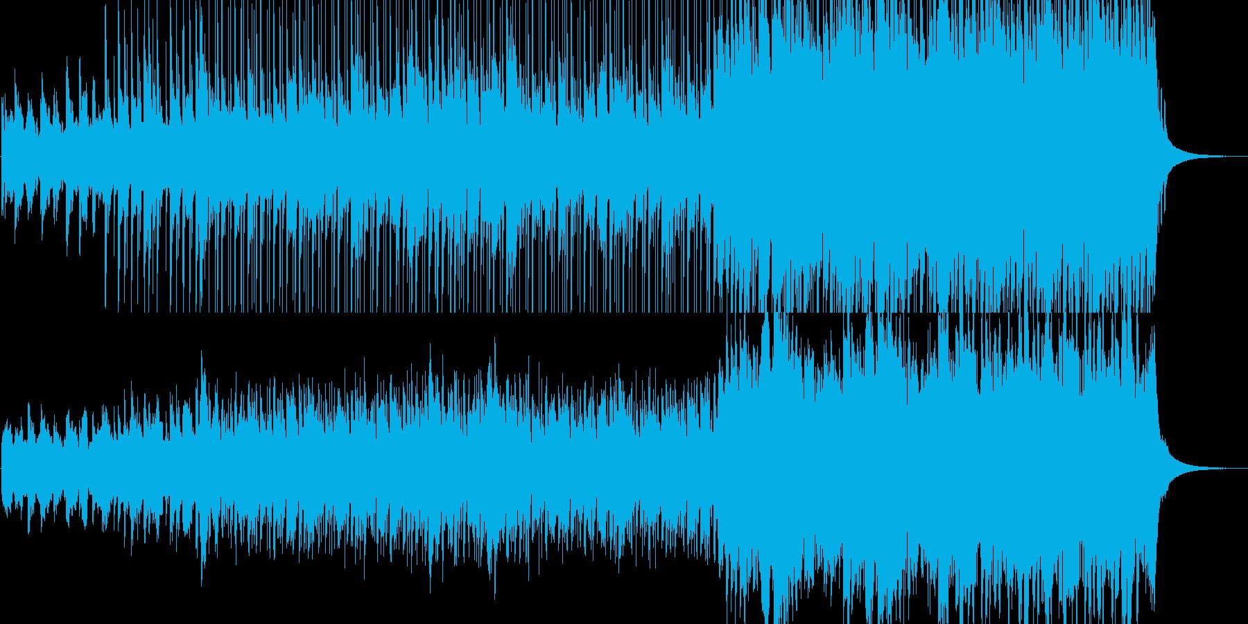 広大な大地で重たいチェロのメロディの再生済みの波形