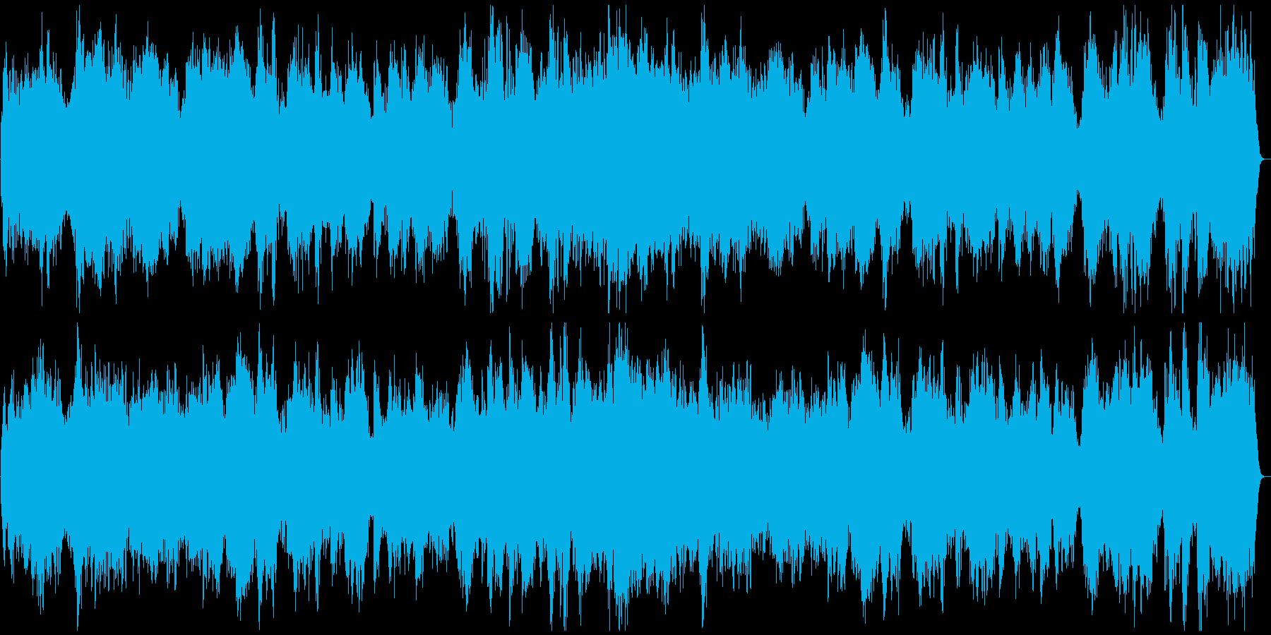 心霊番組の再現VTR◆幽霊出現前の緊張感の再生済みの波形
