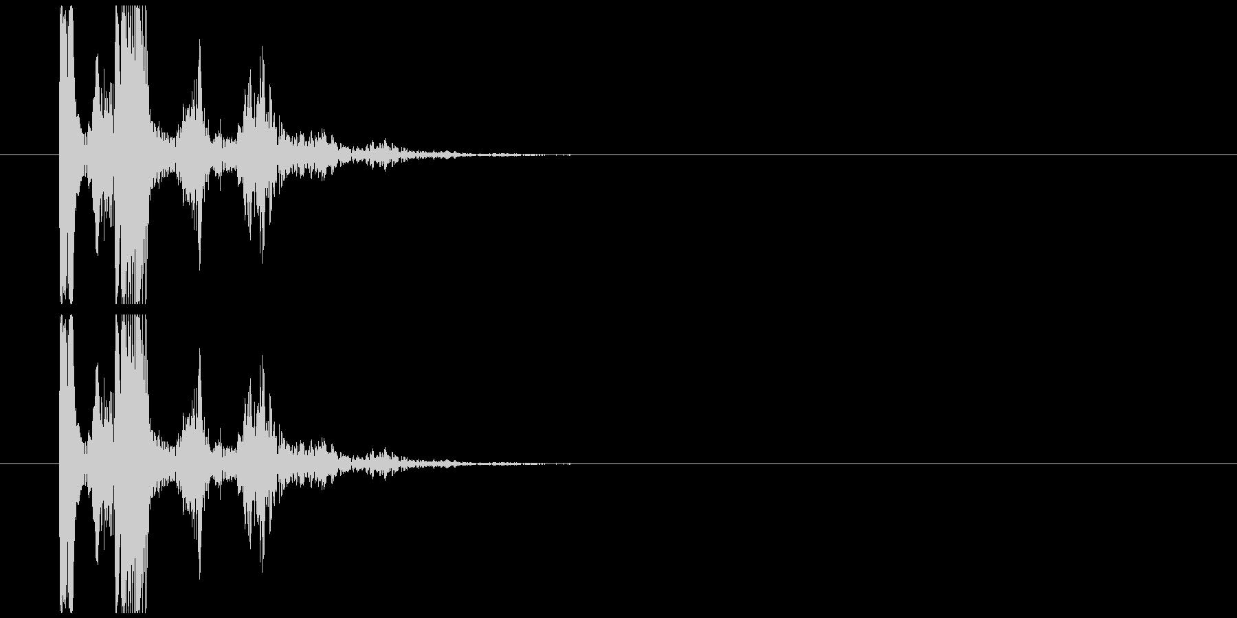 コミカルな魔法発射音の未再生の波形