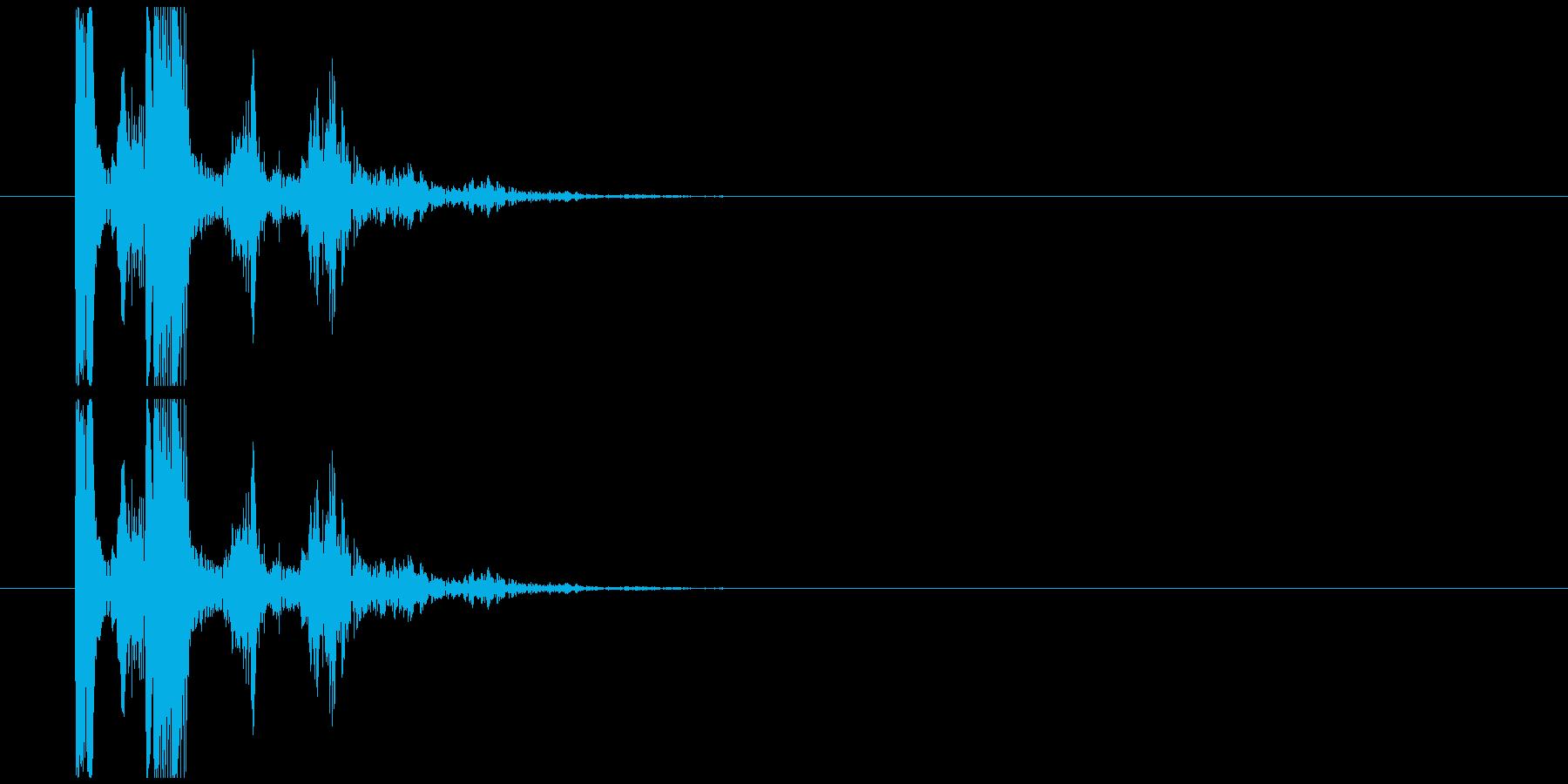 コミカルな魔法発射音の再生済みの波形