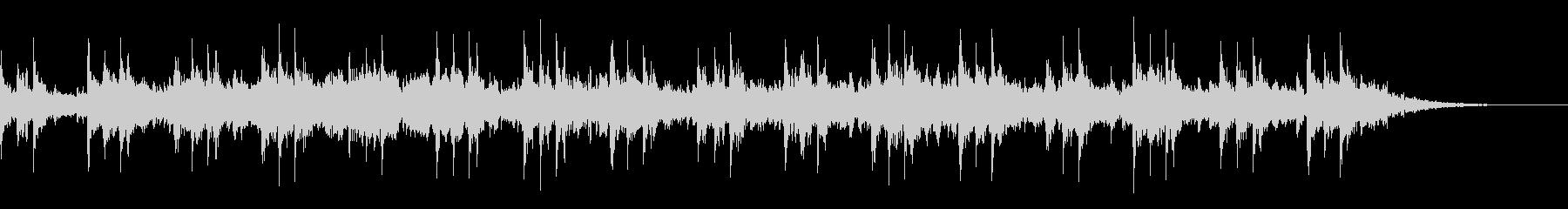 エスニックムードの笛による神秘的な音風景の未再生の波形