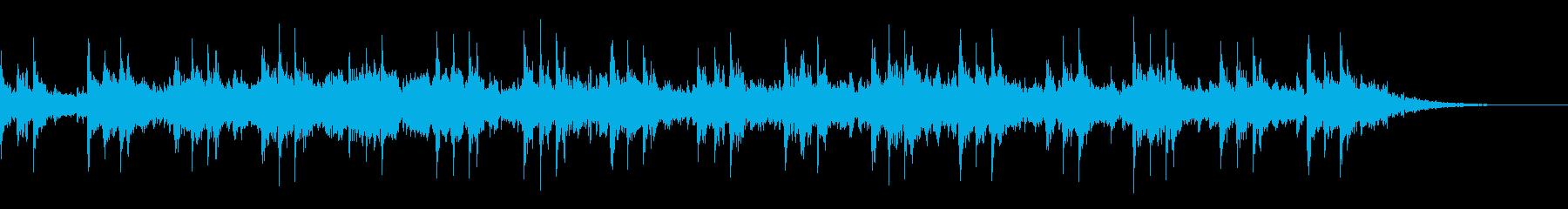エスニックムードの笛による神秘的な音風景の再生済みの波形