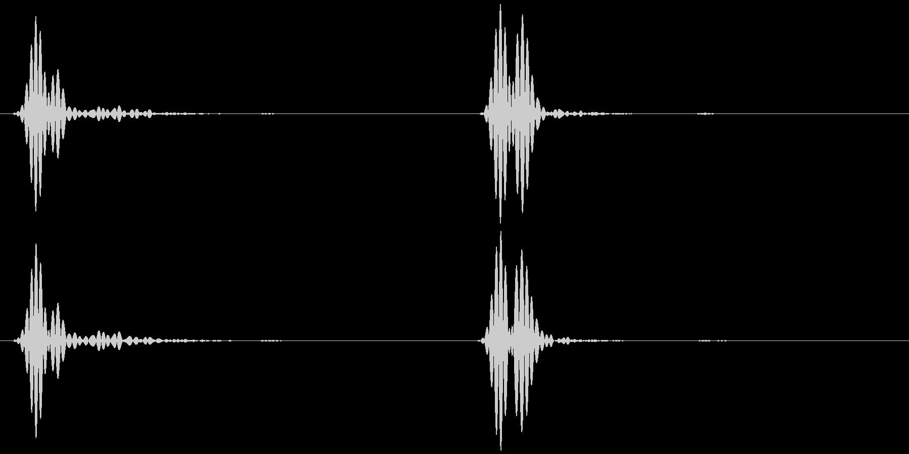 心臓の音 (ドックッ ゆっくり)の未再生の波形