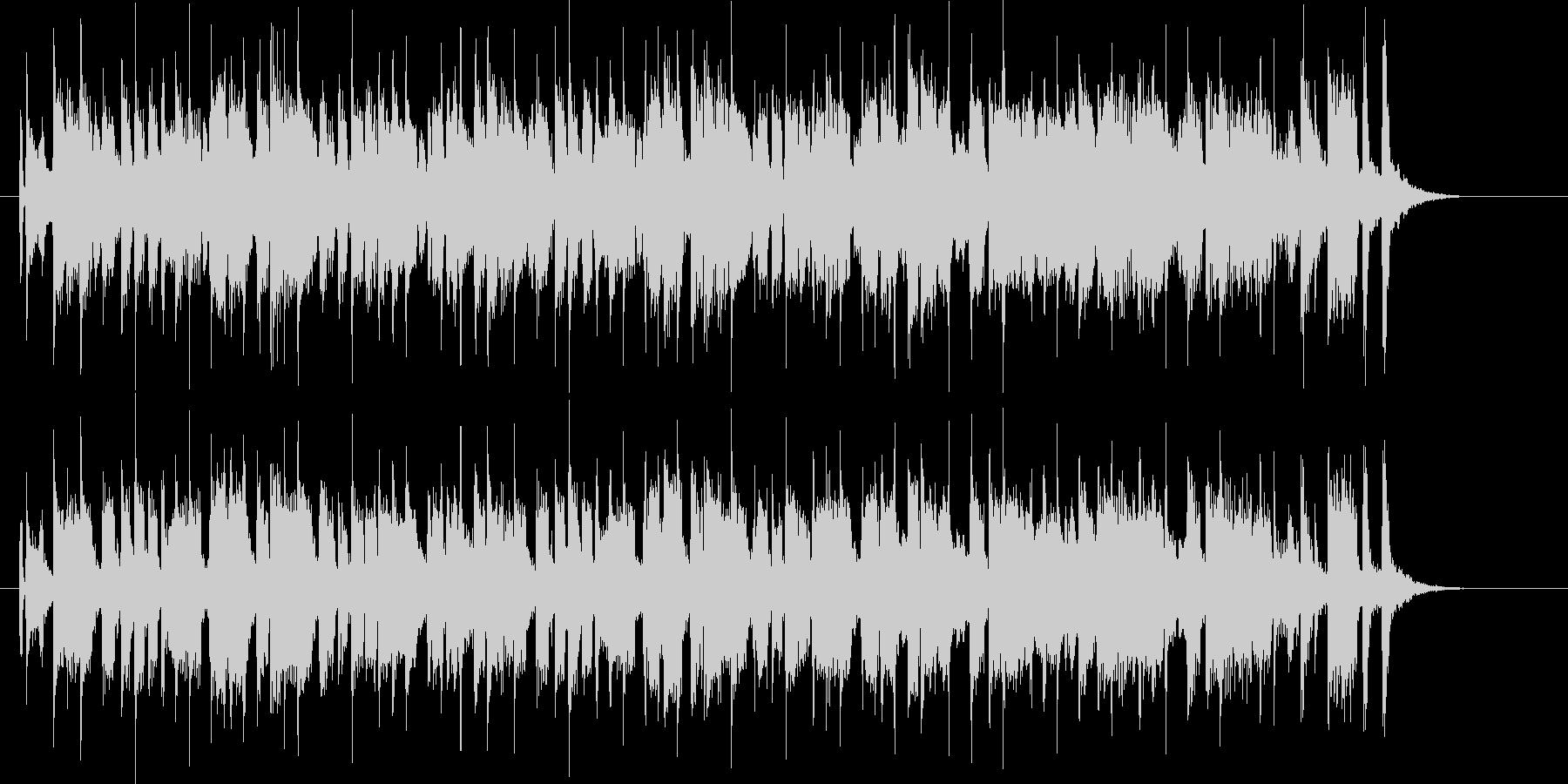 ゆったりとしたテンションの上がる音楽の未再生の波形
