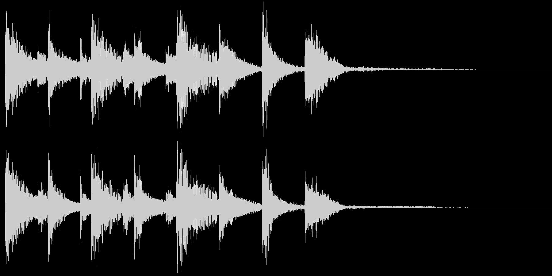 コミカルなジングルの未再生の波形