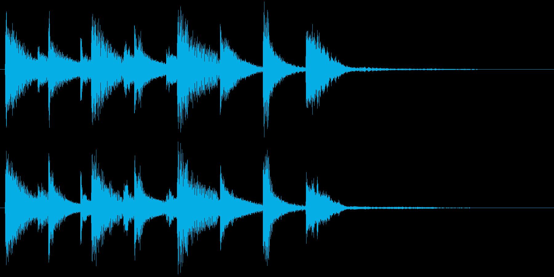 コミカルなジングルの再生済みの波形