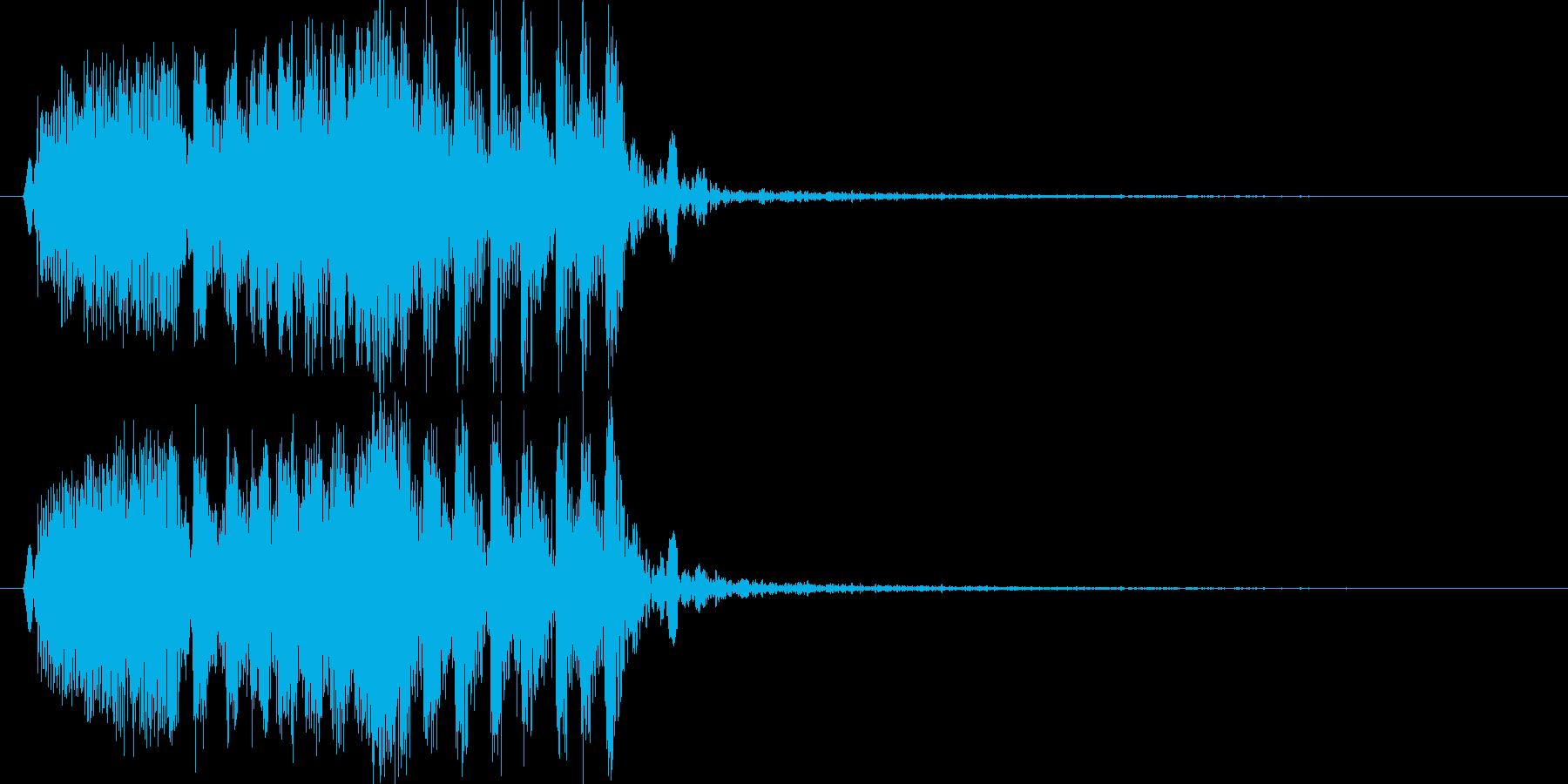 モンスターの鳴き声(鳥系1)の再生済みの波形