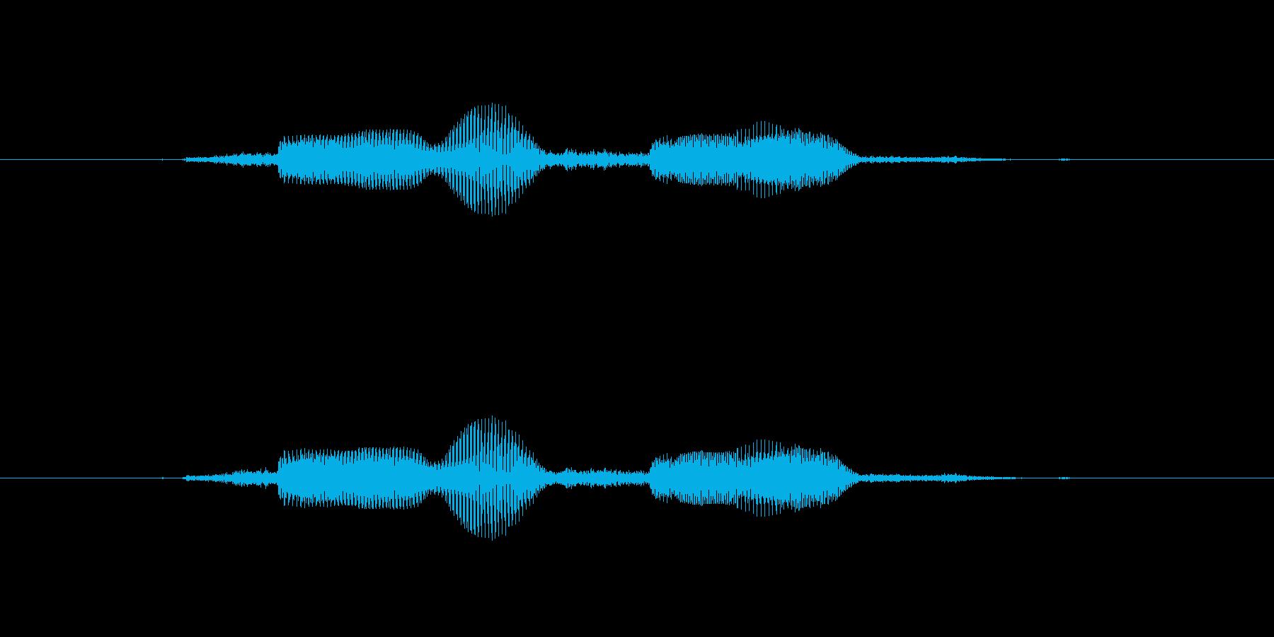 「通話します」の再生済みの波形