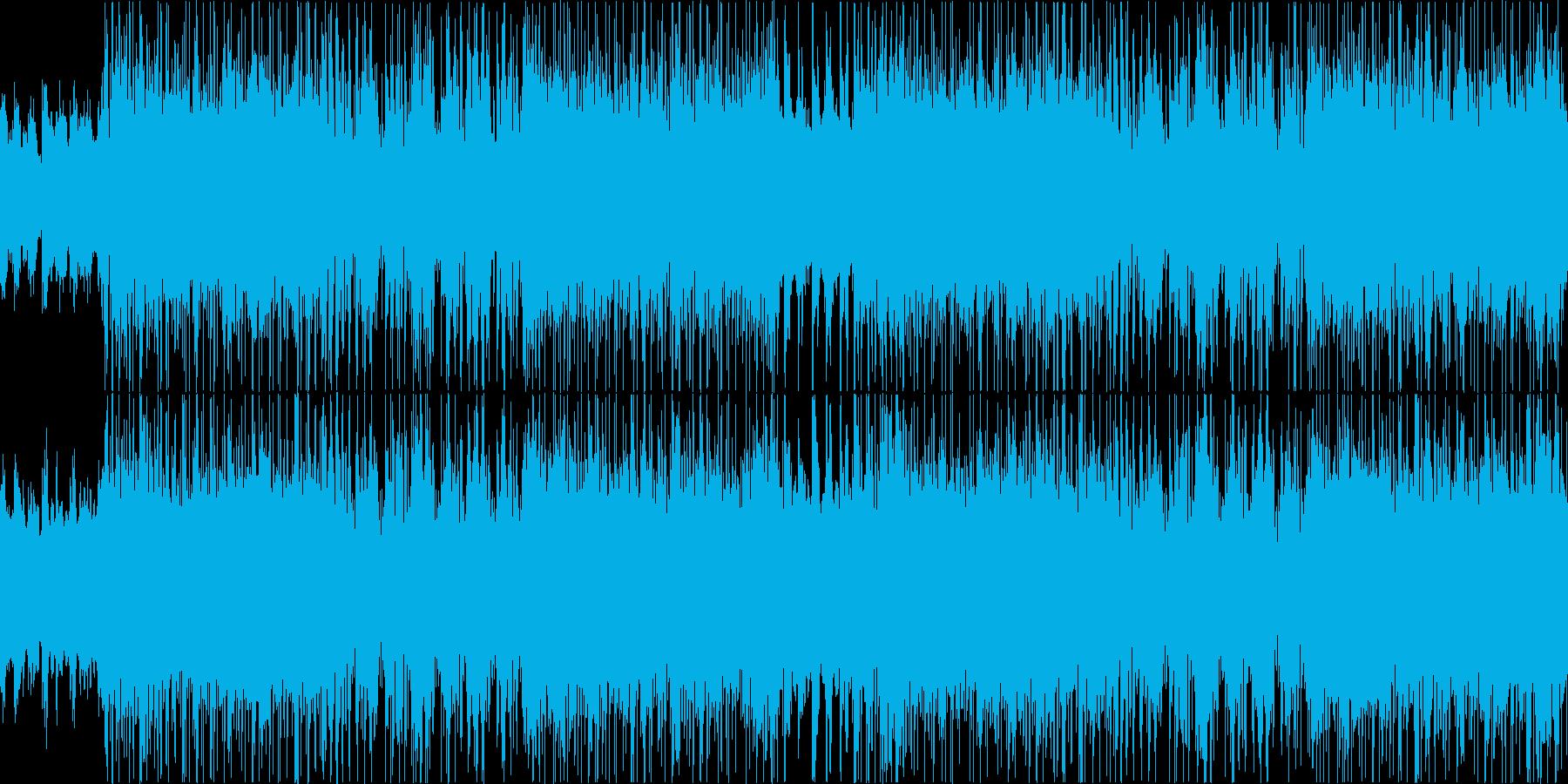 【ループ】緑豊かな雰囲気のアコースティッの再生済みの波形