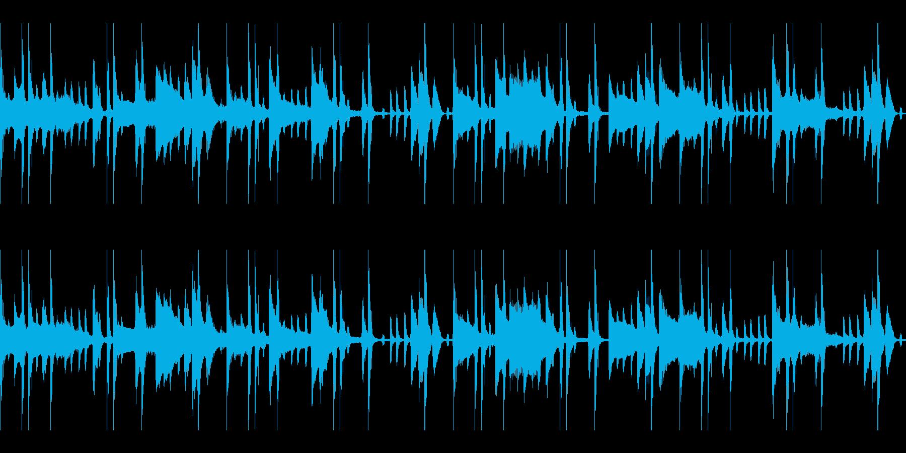 怪しくけだるい雰囲気のループ仕様 BGMの再生済みの波形