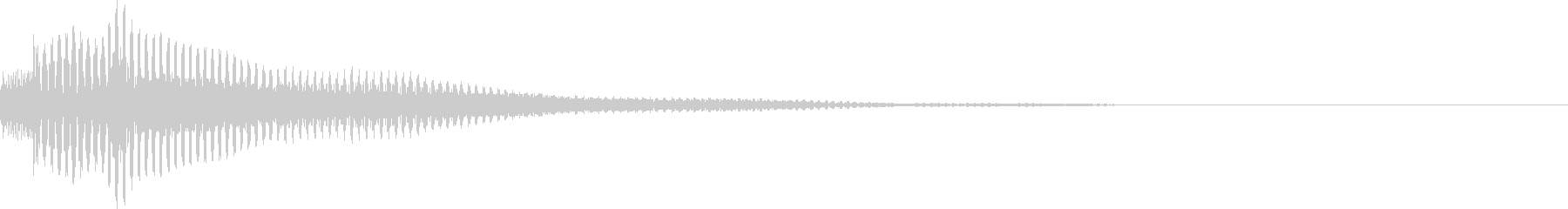 汎用性の高いボタン音 プルルン の未再生の波形