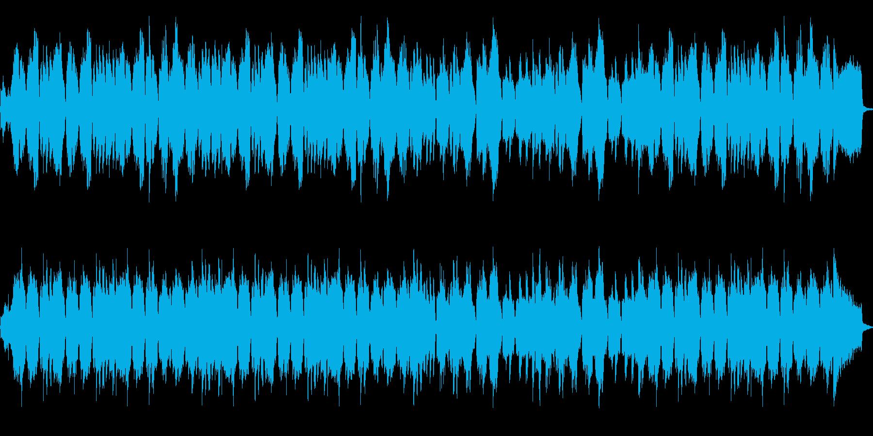 フィールドなどに使えそうなフルート曲の再生済みの波形