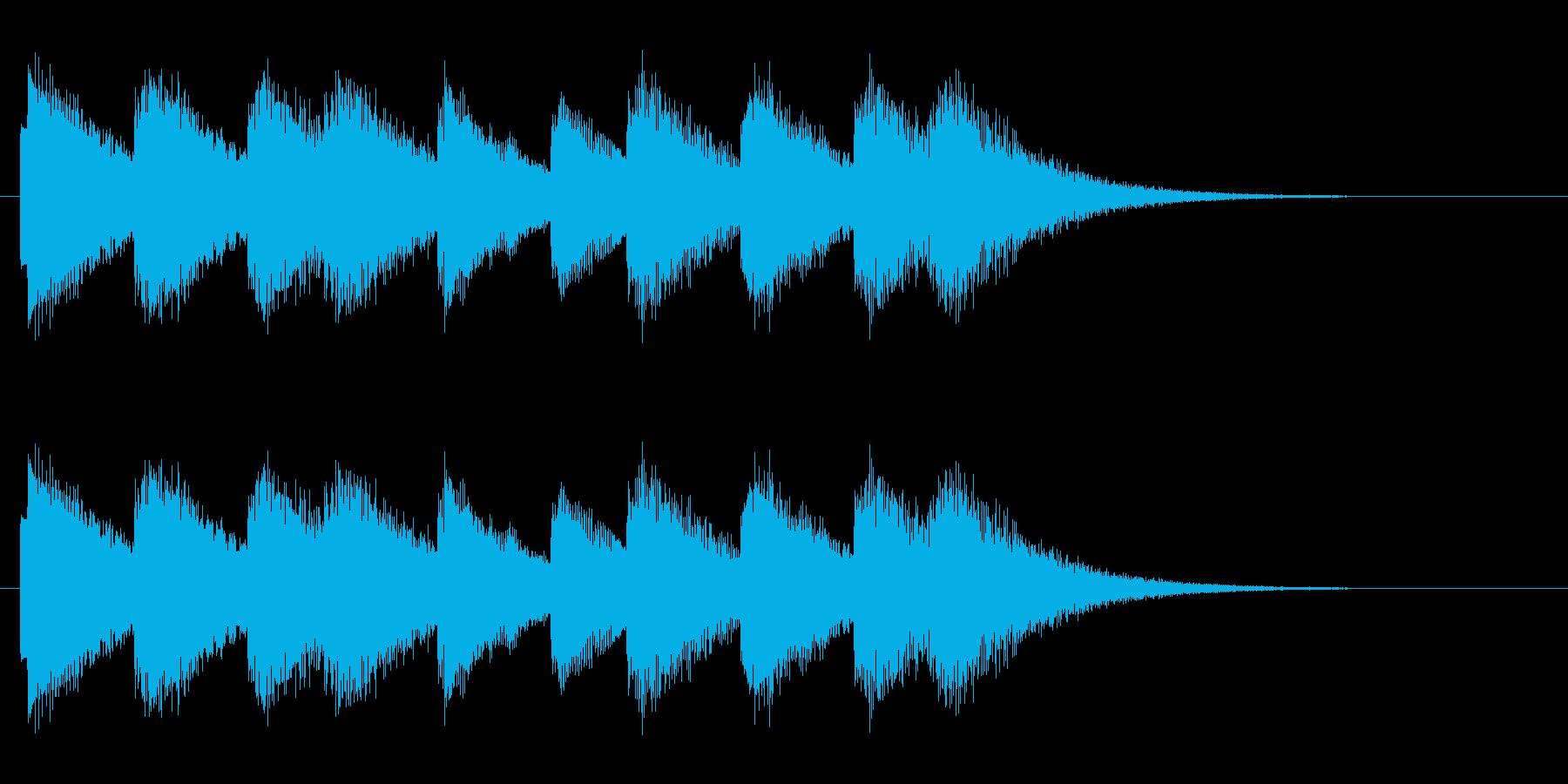 コンビニ風入店音_01の再生済みの波形