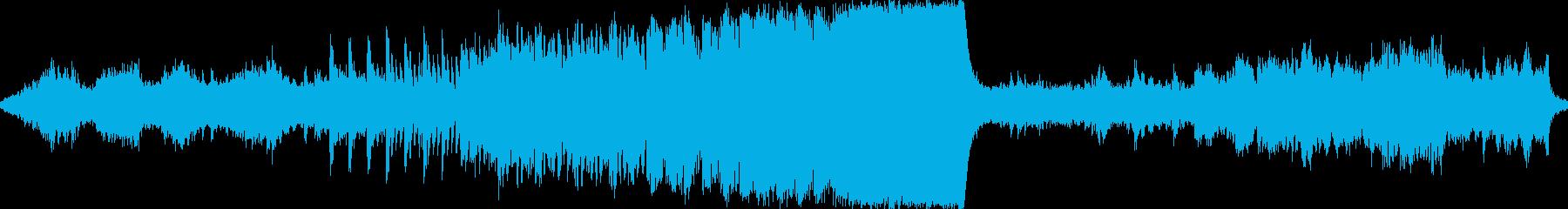 不思議で力強い幻想的な曲の再生済みの波形