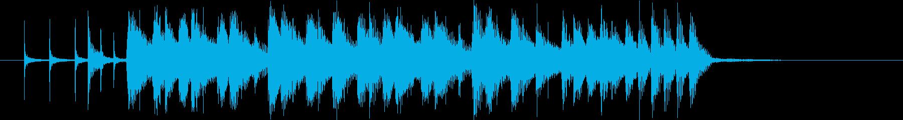 悠長で軽快なシンセポップジングルの再生済みの波形